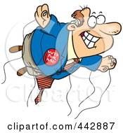 Royalty Free RF Clip Art Illustration Of A Cartoon Politician Full Of Hot Air by toonaday