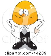 Clipart Illustration Of A Yellow Egg Doctor Character