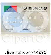Shiny Blue And Beige Platinum Credit Card