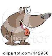 Royalty Free RF Clip Art Illustration Of A Cartoon Drooling Hungry Bear