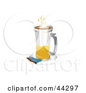 Clipart Illustration Of A Tall Latte Glass On A Saucer