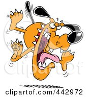Royalty Free RF Clip Art Illustration Of A Cartoon Mad Attacking Dog