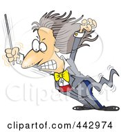 Royalty Free RF Clip Art Illustration Of A Cartoon Music Conductor Grimacing by toonaday