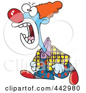 Royalty Free RF Clip Art Illustration Of A Cartoon Mad Clown Yelling by toonaday