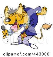 Cartoon Hyena Comedian Laughing