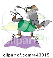 Royalty Free RF Clip Art Illustration Of A Cartoon Howling Mountain Dog