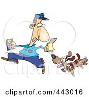 Royalty Free RF Clip Art Illustration Of A Cartoon Dog Chasing The Meter Man