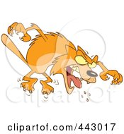 Royalty Free RF Clip Art Illustration Of A Cartoon Mad Orange Cat Attacking