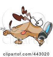 Royalty Free RF Clip Art Illustration Of A Cartoon Searching Dog