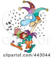 Royalty Free RF Clip Art Illustration Of A Cartoon Mardi Gras Jester