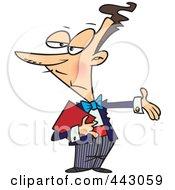 Cartoon Maitre D Gesturing