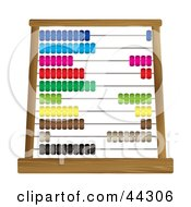 Royalty Free RF Clip Art Of A Colorful Abacus Counting Frame by michaeltravers