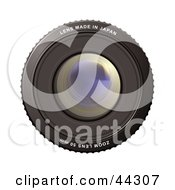 Royalty Free RF Clip Art Of A 50mm Camera Zoom Lens Made In Japan