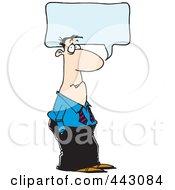Royalty Free RF Clip Art Illustration Of A Cartoon Businessman Talking by toonaday