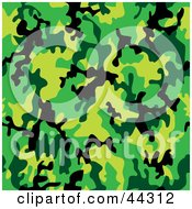 Royalty-free (RF) Clip Art Of A Camouflage Deep Jungle Patterned Background by michaeltravers