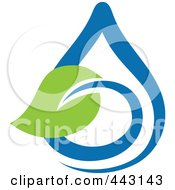 Royalty Free RF Clip Art Illustration Of A Green And Blue Ecology Logo Icon 6 by elena