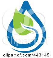 Royalty Free RF Clip Art Illustration Of A Green And Blue Ecology Logo Icon 4