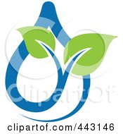 Royalty Free RF Clip Art Illustration Of A Green And Blue Ecology Logo Icon 3 by elena