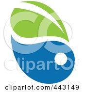 Royalty Free RF Clip Art Illustration Of A Green And Blue Ecology Logo Icon 7