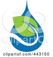 Royalty Free RF Clip Art Illustration Of A Green And Blue Ecology Logo Icon 23