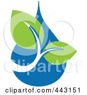 Royalty Free RF Clip Art Illustration Of A Green And Blue Ecology Logo Icon 24