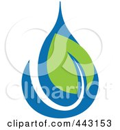 Royalty Free RF Clip Art Illustration Of A Green And Blue Ecology Logo Icon 20 by elena #COLLC443153-0147