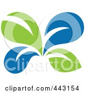 Royalty Free RF Clip Art Illustration Of A Green And Blue Ecology Logo Icon 12 by elena