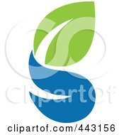 Royalty Free RF Clip Art Illustration Of A Green And Blue Ecology Logo Icon 11