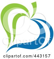 Royalty Free RF Clip Art Illustration Of A Green And Blue Ecology Logo Icon 16