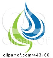 Royalty Free RF Clip Art Illustration Of A Green And Blue Ecology Logo Icon 15