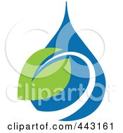 Royalty Free RF Clip Art Illustration Of A Green And Blue Ecology Logo Icon 22 by elena #COLLC443161-0147