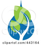 Royalty Free RF Clip Art Illustration Of A Green And Blue Ecology Logo Icon 21 by elena