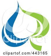 Royalty Free RF Clip Art Illustration Of A Green And Blue Ecology Logo Icon 13 by elena
