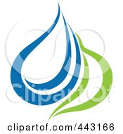 Royalty Free RF Clip Art Illustration Of A Green And Blue Ecology Logo Icon 26