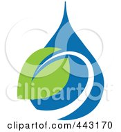 Royalty Free RF Clip Art Illustration Of A Green And Blue Ecology Logo Icon 19