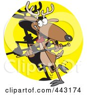 Royalty Free RF Clip Art Illustration Of A Cartoon Dancing Reindeer by toonaday