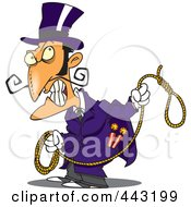 Royalty Free RF Clip Art Illustration Of A Cartoon Evil Man With A Noose