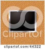 Royalty Free RF Clip Art Of A Picture Frame Over Cork Board by michaeltravers