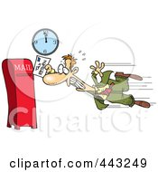 Royalty Free RF Clip Art Illustration Of A Cartoon Tax Payer Nearly Missing The Deadline