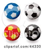 Royalty Free RF Clip Art Of Football Soccer Variations