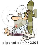 Royalty Free RF Clip Art Illustration Of A Cartoon Man Stranded In The Desert by toonaday