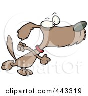 Royalty Free RF Clip Art Illustration Of A Cartoon Determined Dog Stomping