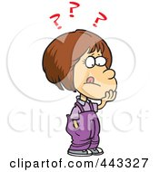 Royalty Free RF Clip Art Illustration Of A Cartoon Girl Deciding by toonaday