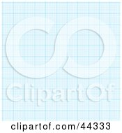 Royalty Free RF Clip Art Of Blue Paper Graph With Empty Squares
