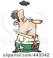 Royalty Free RF Clip Art Illustration Of A Cartoon Gloomy Businessman