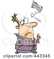 Royalty Free RF Clip Art Illustration Of A Cartoon Newspaper Hitting A Man In The Head