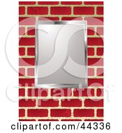 Royalty Free RF Clip Art Of Picture Frame On Brick Wall Background by michaeltravers