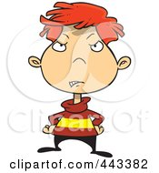 Royalty Free RF Clip Art Illustration Of A Cartoon Disappointed Boy