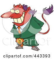 Royalty Free RF Clip Art Illustration Of A Cartoon Director Devil by Ron Leishman