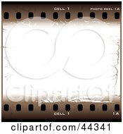 Royalty Free RF Clip Art Of Old Brown Filmstrip Design Elements